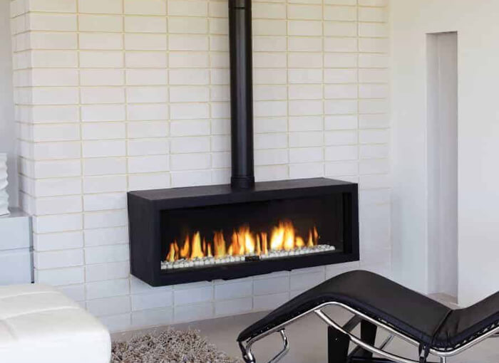 Ortal Stand Alone Gas Fireplace Cranbourne Melbourne Climatise