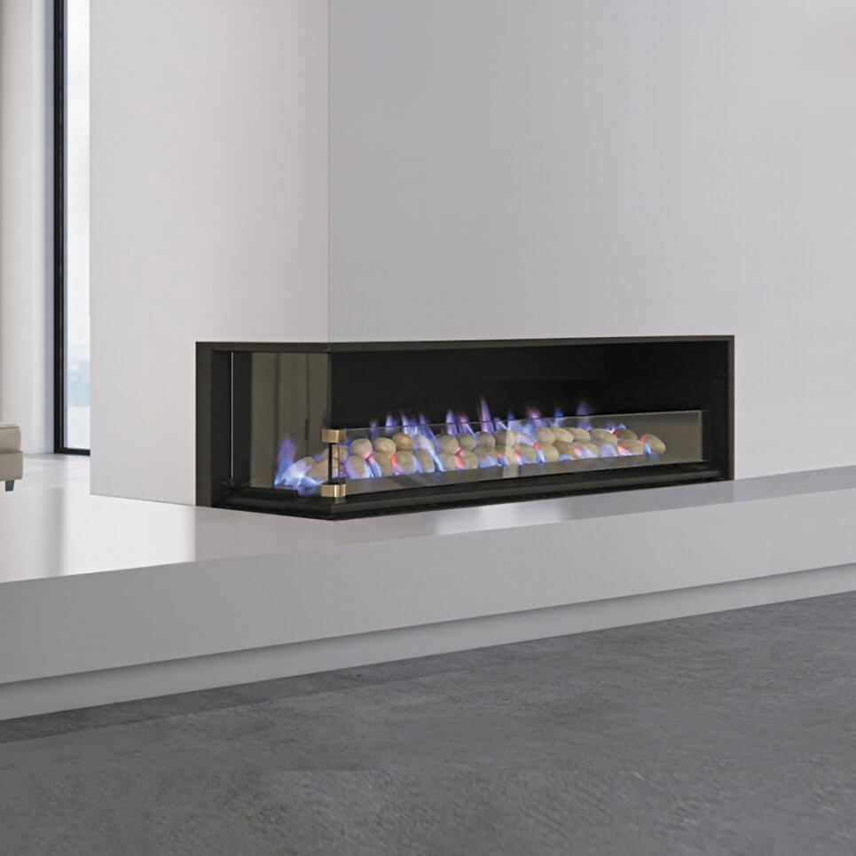 Fireplace living room, side